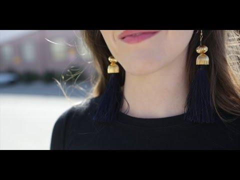 DIY Fashion | Super Cute Tassel Earrings