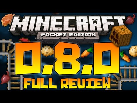 Minecraft Pocket Edition 0.8.0 Full Update Review - All Features - Gameplay