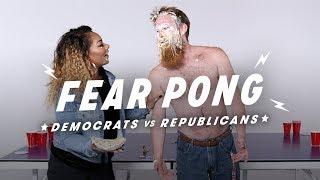 Democrats and Republicans Play Fear Pong (Andrew vs. Shakera)