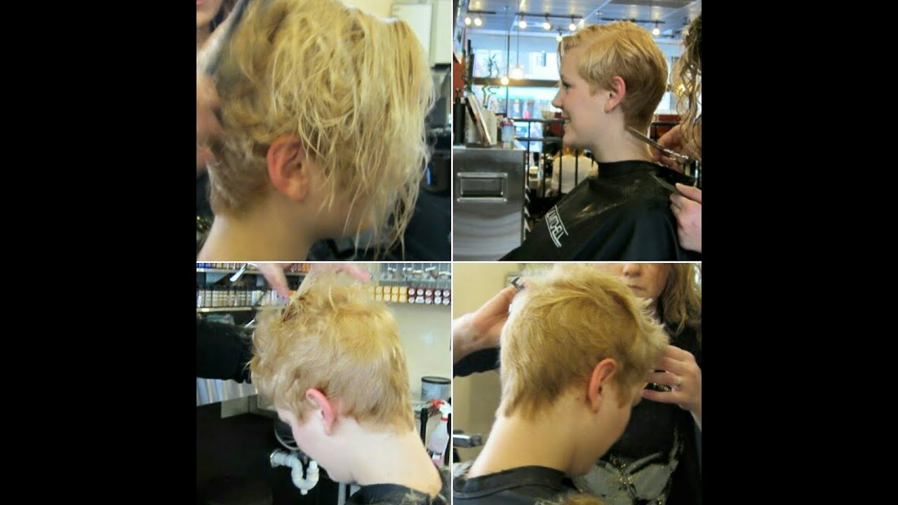 how to create michelle williams pixiecut - YouTube