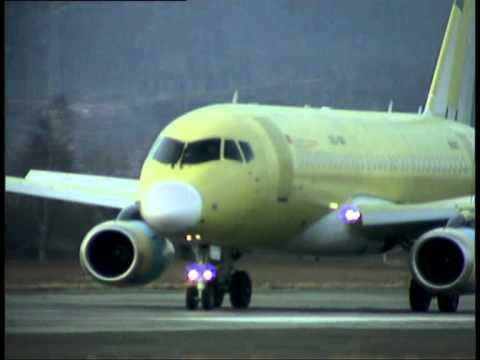 Полет SSJ100 SN95007 и испытания SSJ100 SN95003 в Армении