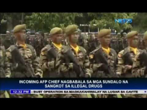 Incoming AFP chief warns soldiers involved in illegal drugs