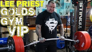 LEE PRIEST is now a GOLDS GYM VIP!