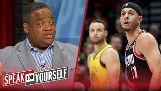 Whitlock predicts a Game 1 win for Portland — GS will be 'off' tonight | NBA | SPEAK FOR YOURSELF