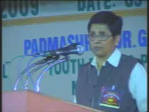 Youth Convention Dr.kiran bedi speech part 2