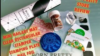 🛍Born Pretty Store -Nailart Mat, Rectangular Clear Jelly Stamper & more Review🛍