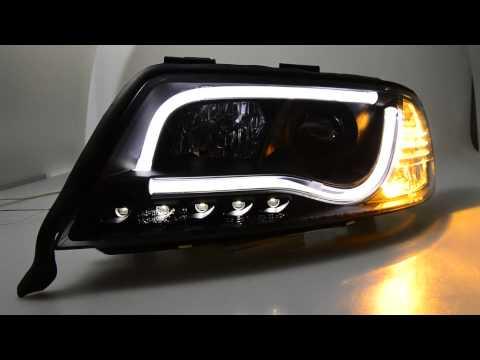 SW-LTube Scheinwerfer Audi A6 C5 Typ 4B Facelift black LED Lighttube SW-Tuning