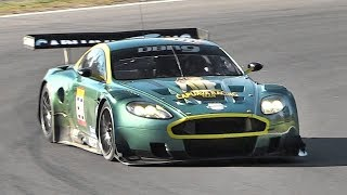 Aston Martin DBR9 GT1 V12 Sound! - Accelerations & Fly Bys on Track