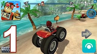 Beach Buggy Racing - Gameplay Walkthrough Part 1 - Easy Street (iOS, Android)