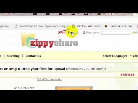 File Sharing Website । Create Download Link on Zippyshare । Online Cloud Storage