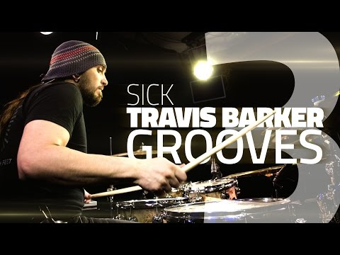 3 Sick Travis Barker Drum Grooves - Free Drum Lessons video