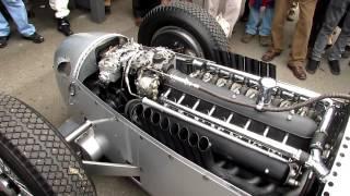 Definitive Auto Union V16 C Type engine warm up - Goodwood Revival 2012 - Silver Arrows