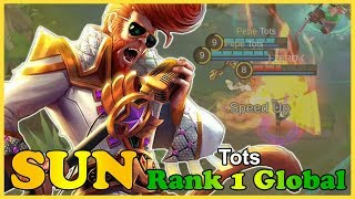 Rework sun Gameplay, Solo Q Mythical glory [Tots] Top 1 global sun mobile legends