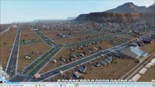 Sim City 2013 Timelapse with Mods - In Town Highway & Rail Line