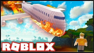 LETADLO V PLAMENECH!!! - Survive a plane crash on FIRE! [Roblox]