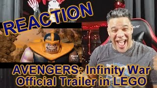 AVENGERS: Infinity War Official Trailer in LEGO REACTION