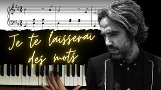 Je Te Laisserai Des Mots Solo Piano Tutorial Pop Piano Lesson 4