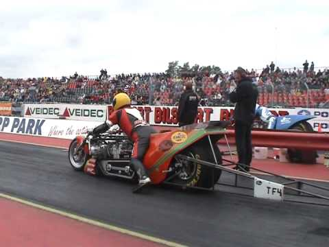 Top fuel drag bike: Sverre Dahl 6.42sec 364kmh Mantorp 2005