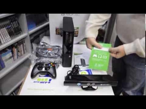 Распаковка NEW Xbox 360 E (Slim) 250 Gb плюс Kinect и три игры