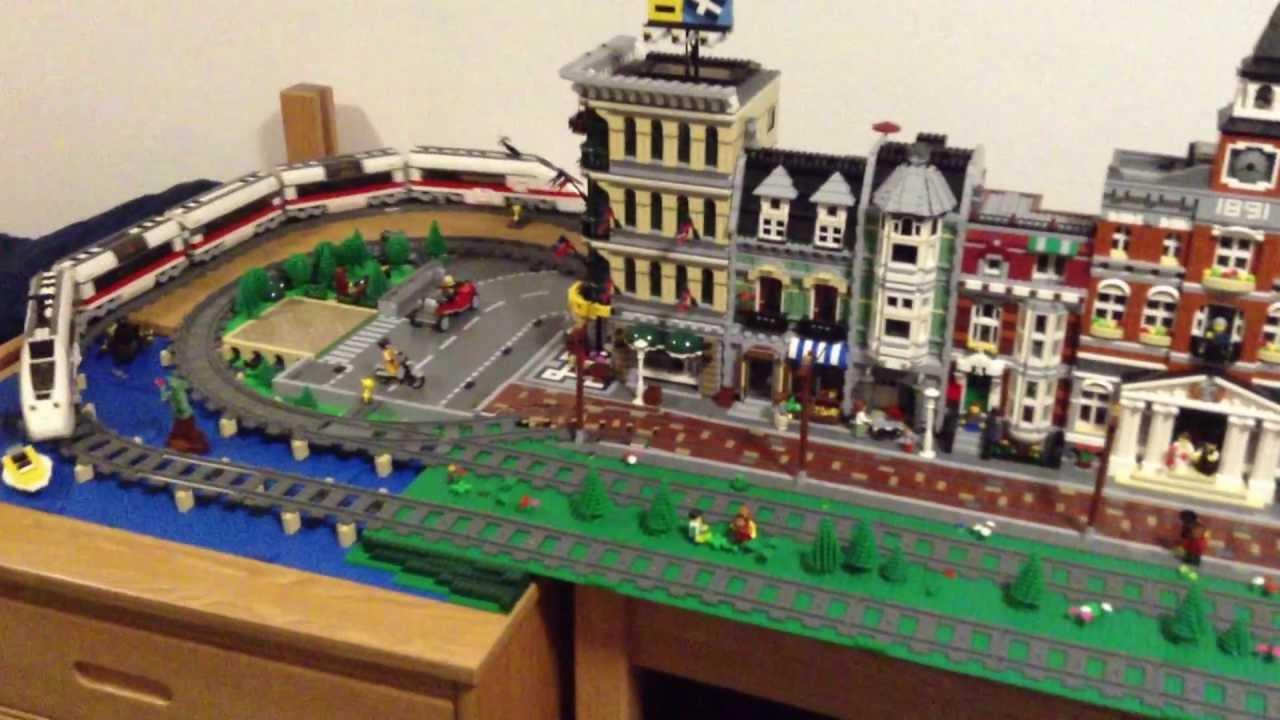 LegoGermanIceTrainGoingAroundTownSet7897Youtube