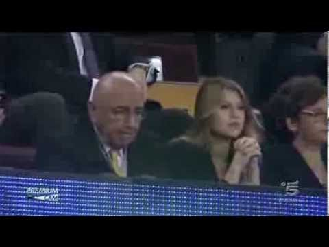 Adriano Galliani e Barbara Berlusconi al Camp Nou