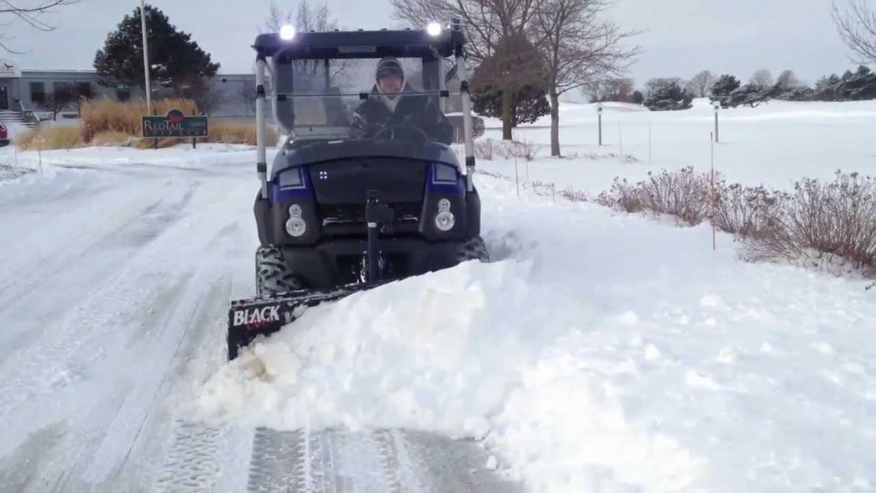 Kawasaki Mule 610 >> Kawasaki Mule 610 XC Plowing Snow - Blackline Plow - YouTube