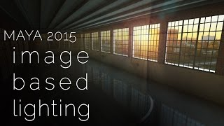 IMAGE BASED LIGHTING tutorial - do it the quick and easy way! | a Maya 2015 lighting tutorial