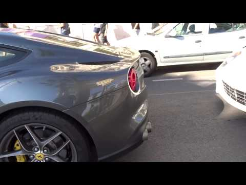 Ferrari F12 From Kuwait Hard Reving Launch Control In Cannes