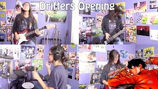 """Drifters Opening - """"Gospel Of The Throttle 狂奔REMIX ver."""" by Minutes Til Midnight【Band Cover】"""