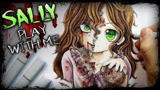 """Play With Me"" Sally Williams (Horror Story) Creepypasta + Anime Drawing"