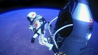 Official Felix Baumgartner Freefall From The Edge Of Space With New World Record