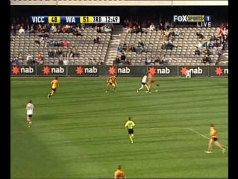 afldraftinfo.com - Nicholas Winmar vs Vic Country - 2009 AFL U18 Championships - July 1st