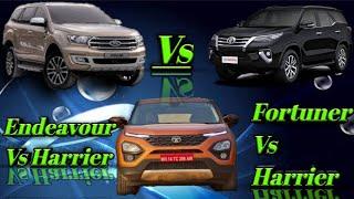 Ford Endeavour vs Toyota Fortuner Vs Tata Harrier specs 2019|SPS CARS