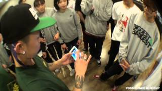 B BOY GOBLIN WORK SHOP & interview IN POSSI DANCE ACADEMY 2015 01 17