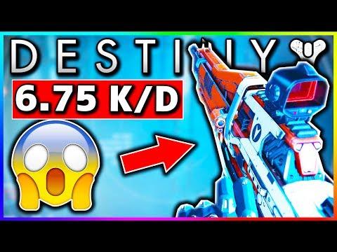 Destiny MY BEST GAME YET! 6.75 K/D! (Destiny Amazing Auto Rifle GRIM CITIZEN III)