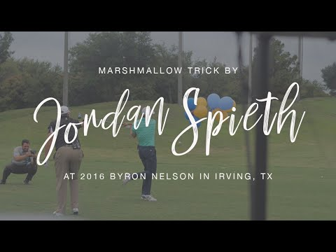 Jordan Spieth Catches a Marshmallow Off a Golf Ball at AT& T Byron Nelson