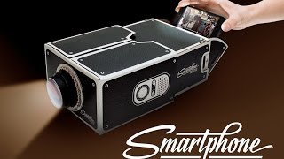 Build your own smartphone projector with a shoebox
