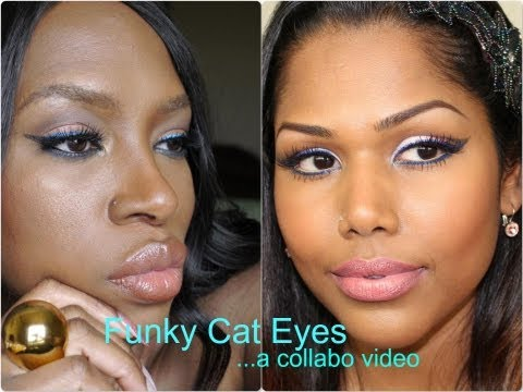 Funky Cat Eyes and Nude mouth... A collabo video with Uma Preve