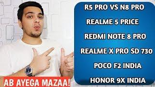 Realme 5 Pro Vs Redmi Note 8 Pro,Realme 5 Price,Note 8 Pro Launch,Poco F2 India,Honor 9X
