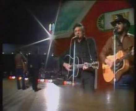 Johnny Cash & Hank Williams jr - Kaw Liga Music Videos
