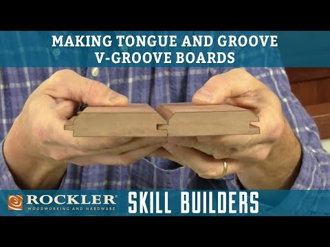 How to Make Tongue and Groove V-Groove Boards   Rockler Skill Builders