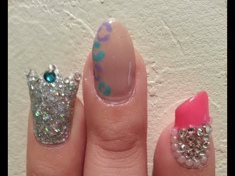 Crown Lipstick Almonds Nails