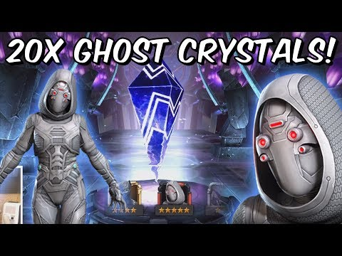 20x 5 Star Ghost & Wasp Featured Crystal Opening! - Marvel Contest Of Champions