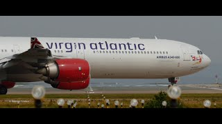 Virgin Atlantic Airbus A340-600 Rear view Departure