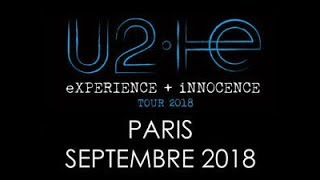 U2 eXPERIENCE+iNNOCENCE Tour 2018 Live Full Concert 4K 8 September Paris France AccorHotels Arena