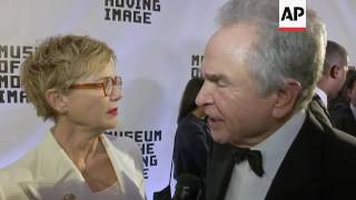 Warren Beatty, Annette Bening Walk Red Carpet, Talk About Meeting On 'Bugsy' Set
