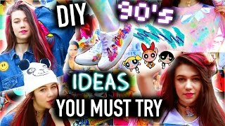 DIY Project Ideas - 90's Inspired: You MUST Try - Easy and Tumblr