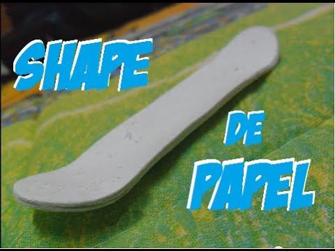 Como fazer um shape Fingerboard (skate de dedo) de papel