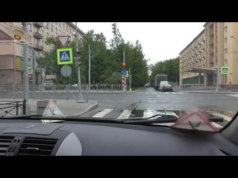 Проезд перекрестков с автоинструктором в Санкт- Петербурге.