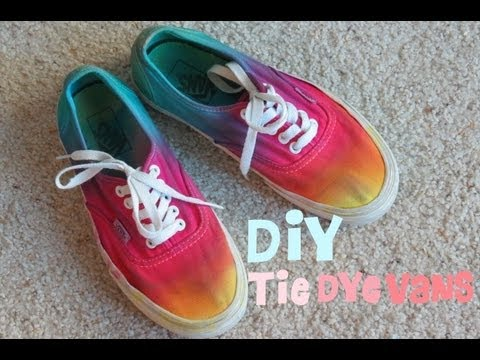 DIY Tie Dye Galaxy Shoes